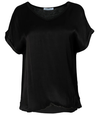 Rebelz Collection Shirt zwart Anna v hals