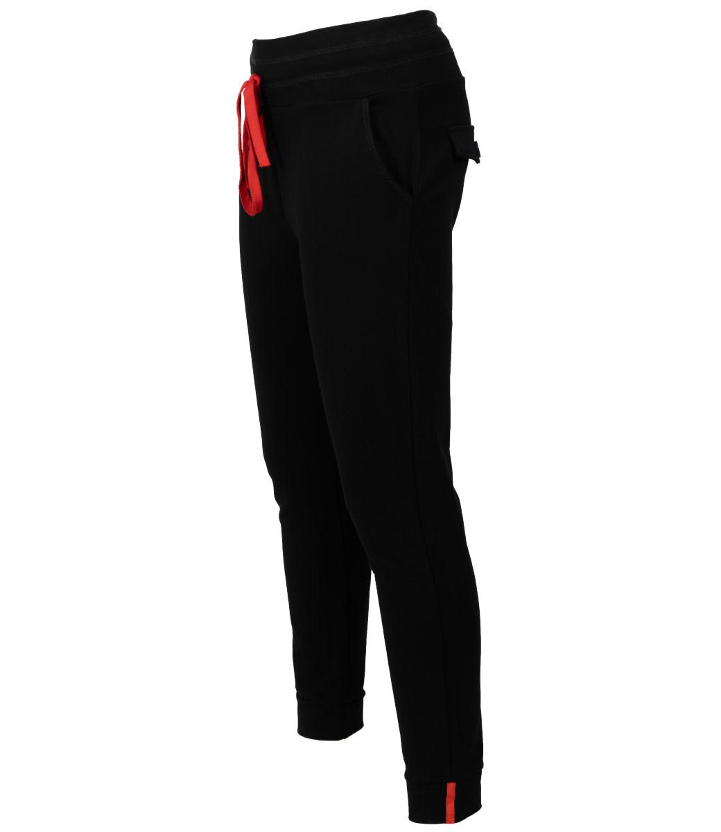 Azzurro Pantalon zwart/oranje Lara