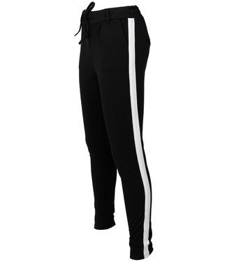 Azzurro Pantalon zwart/wit Lara