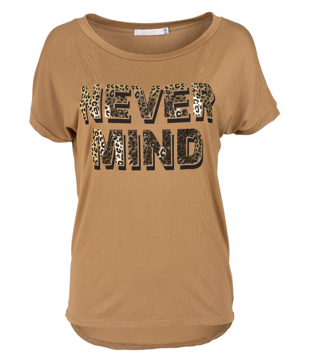 Gemma Ricceri Shirt Camel never mind