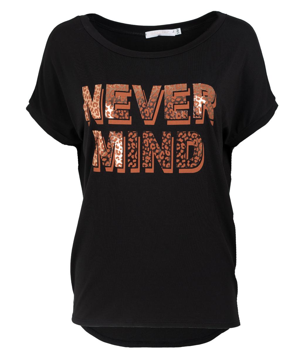 Gemma Ricceri Shirt zwart never mind