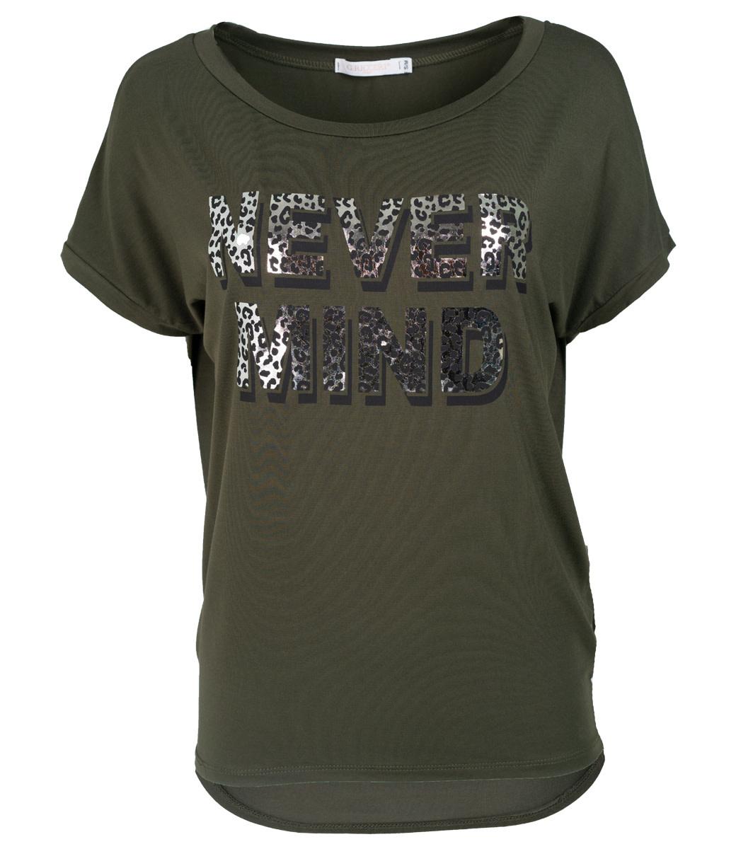 Gemma Ricceri Shirt groen never mind