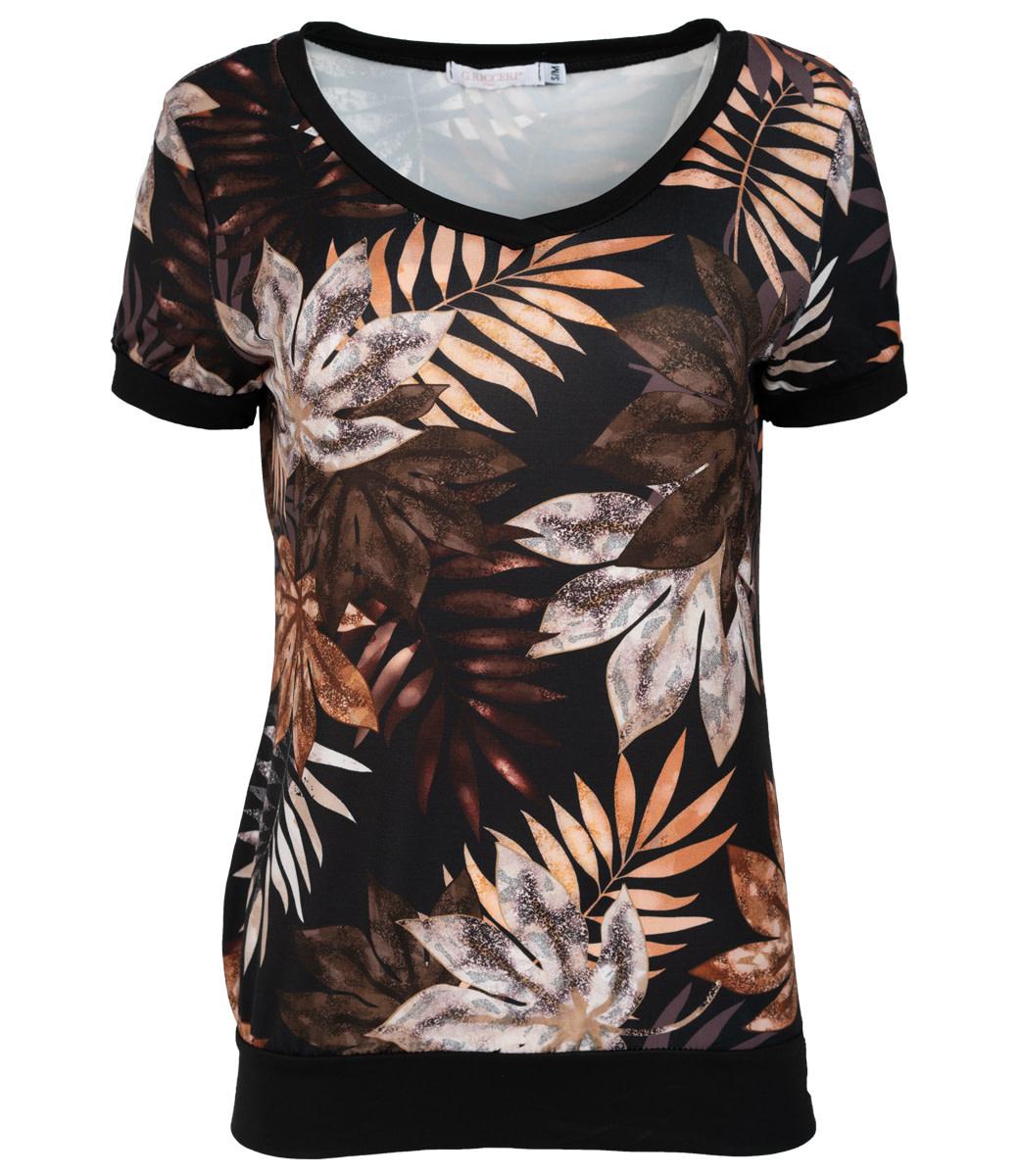 Gemma Ricceri Shirt zwart/camel Kikki