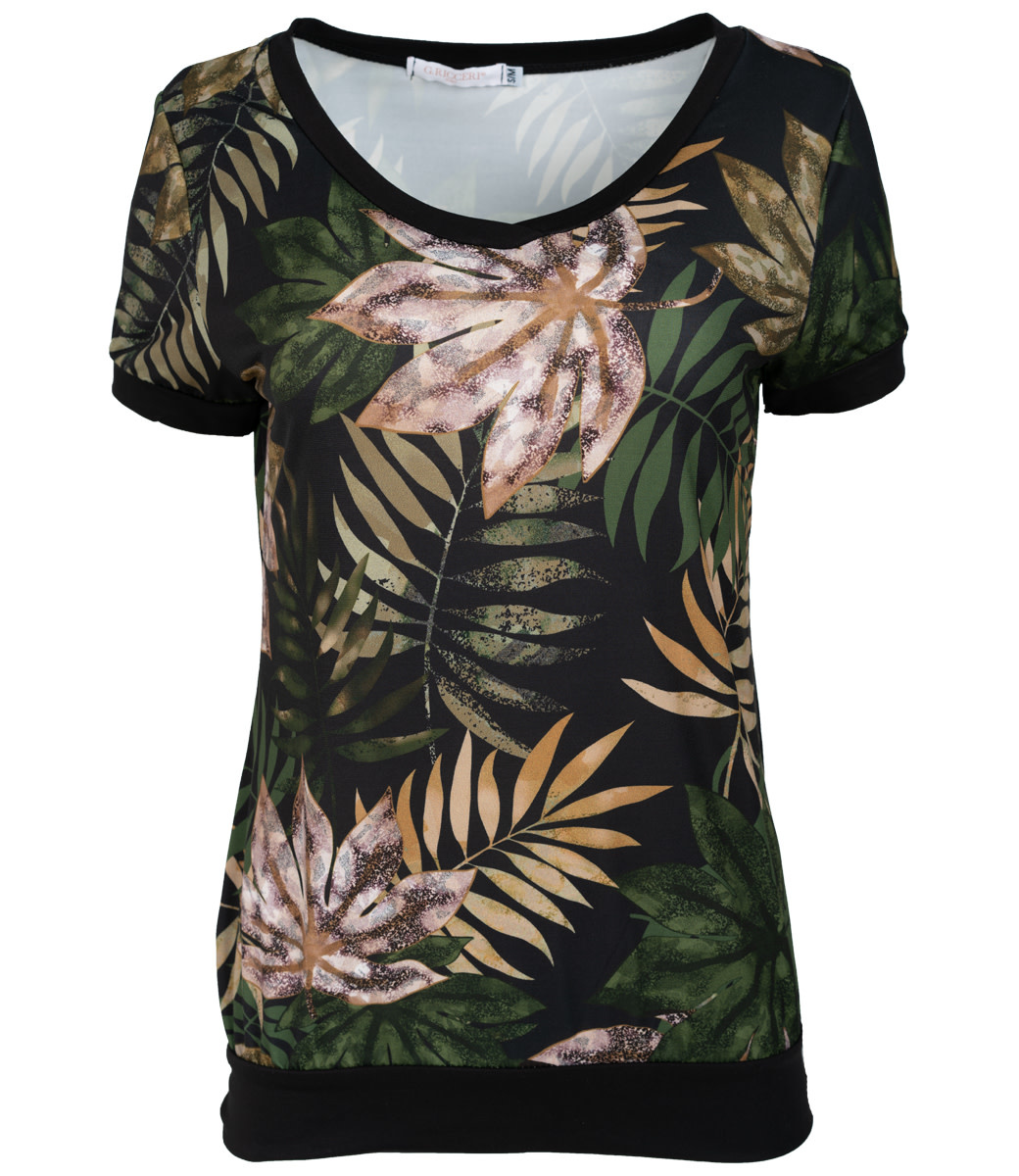 Gemma Ricceri Shirt zwart/groen Kikki