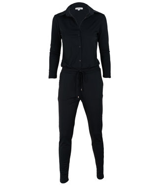 Vera Jo Jumpsuit zwart travelstof  Lina