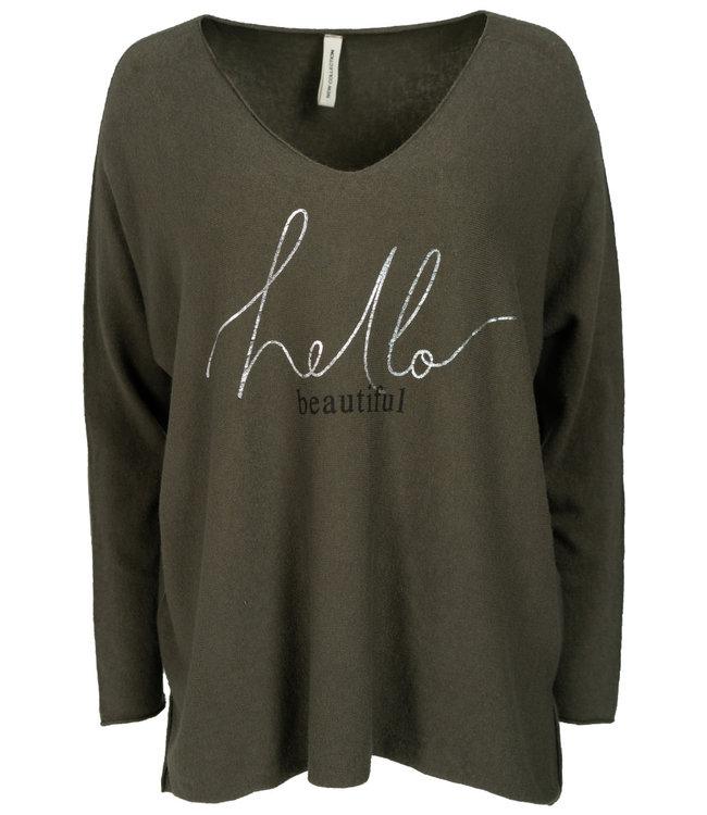 Gemma Ricceri Sweater legergroen Beautiful