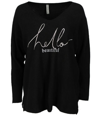 Gemma Ricceri Sweater zwart Beautiful