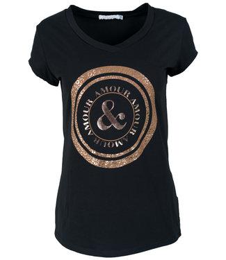 Gemma Ricceri Shirt zwart/roestbruin Cindy
