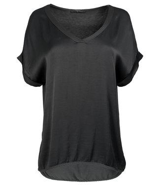 Gemma Ricceri Shirt antraciet silk touch v hals