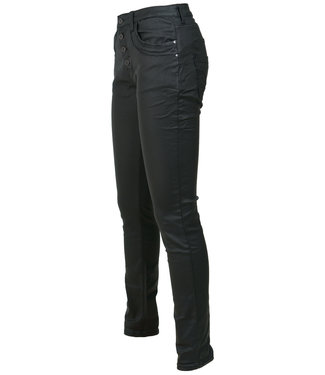 place du Jour Broek zwart leather look Emely