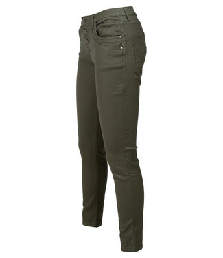 place du Jour Broek groen leather look Emely
