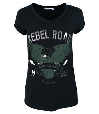 Gemma Ricceri Shirt zwart/groen Rebel road