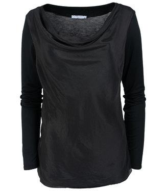 Gemma Ricceri Shirt zwart waterfall Wanda