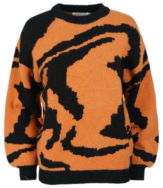 Azzurro Trui oranje/zwart zebra Kay