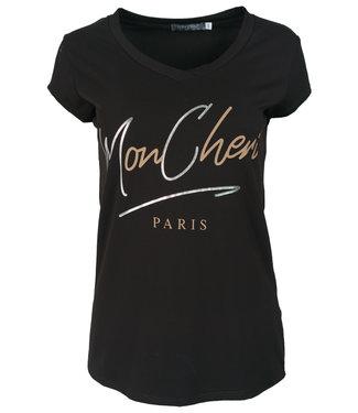 Gemma Ricceri Shirt zwart/camel Mon Cheri