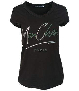 Gemma Ricceri Shirt zwart/groen Mon Cheri
