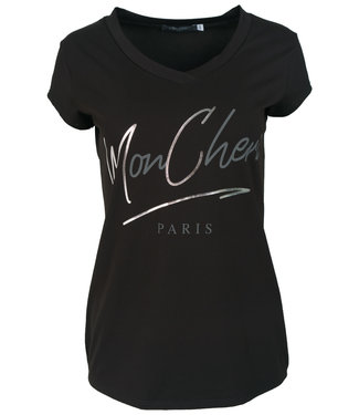 Gemma Ricceri Shirt zwart/grijs Mon Cheri