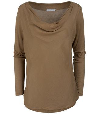 Gemma Ricceri Shirt camel waterfall Wanda