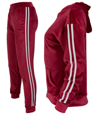Wannahavesfashion Joggingpak Cherry velvet