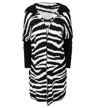 Gemma Ricceri Vest zwart/wit zebraprint Nova