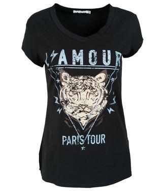 Gemma Ricceri Shirt zwart/blauw Tijger