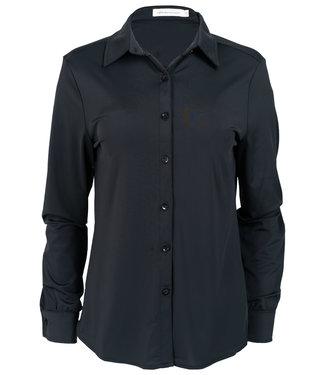 Azzurro Blouse zwart travelstof Sam