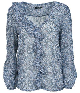 Vera Jo Blouse jeansblauw Isabel