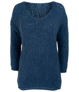 Wannahavesfashion Trui jeansblauw Aukje