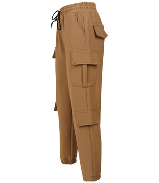 Wannahavesfashion Broek worker camel Bobbie