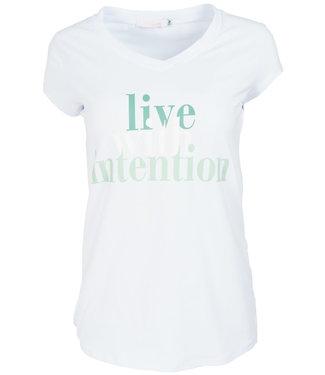 Gemma Ricceri Shirt wit/groen intention
