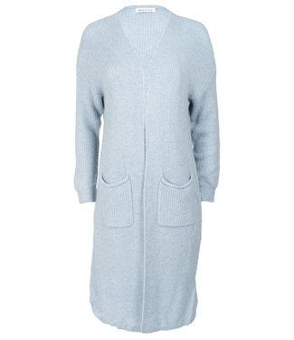 Azzurro Vest lichtblauw lang Ilse