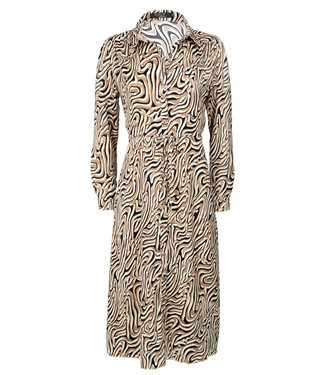 Rebelz Collection Jurk beige/zwart maxi Milou
