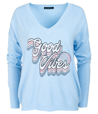 Gemma Ricceri Sweater blauw good vibes