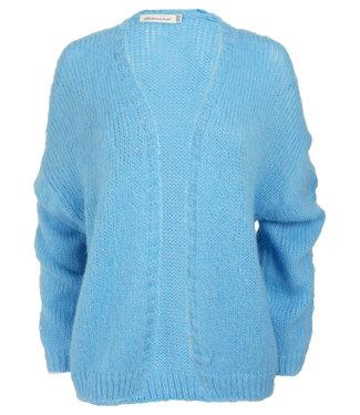 Azzurro Vest jeansblauw Ria