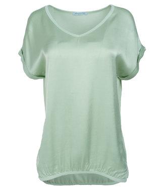 Azzurro Shirt mintgroen v hals Anna
