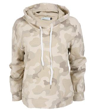 Azzurro Sweater beige camouflage Mascha