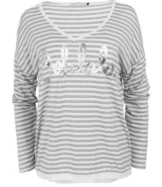 Gemma Ricceri Shirt grijs streep oh Lala