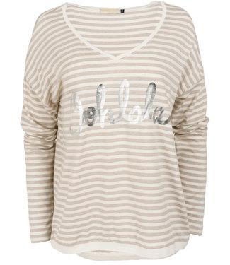 Gemma Ricceri Shirt beige streep Oh Lala