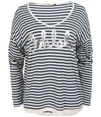 Gemma Ricceri Shirt blauw streep oh lala