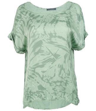 Gemma Ricceri Shirt mintgroen silk touch Bo