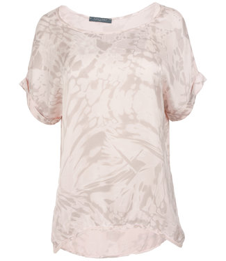 Gemma Ricceri Shirt roze silk touch Bo