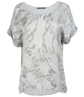 Gemma Ricceri Shirt lichtgrijs silk touch Bo