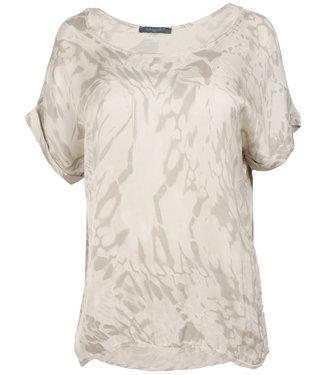 Gemma Ricceri Shirt beige silk touch Bo