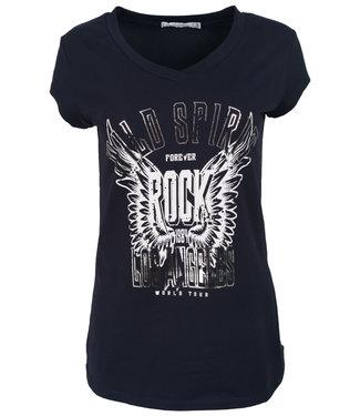 Gemma Ricceri Shirt donkerblauw/wit wild Spirit