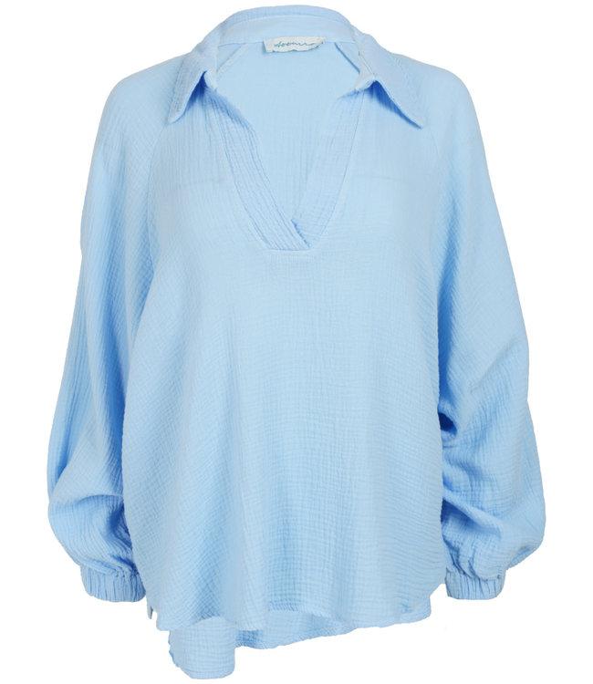 Azzurro Blouse blauw Mila