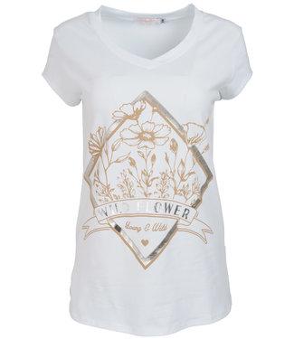 Gemma Ricceri Shirt wit/beige Wild flower
