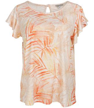 Gemma Ricceri Shirt wit/oranje Selina