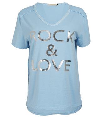 Gemma Ricceri Shirt lichtblauw Rock love