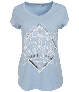 Gemma Ricceri Shirt lichtblauw/wit Wild flower