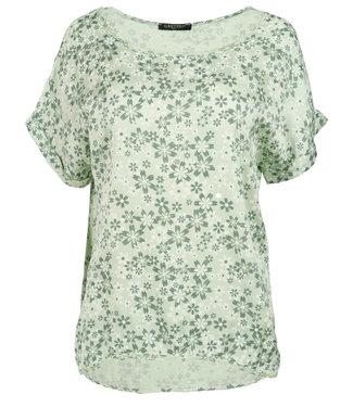 Gemma Ricceri Shirt mintgroen silk touch Fiep